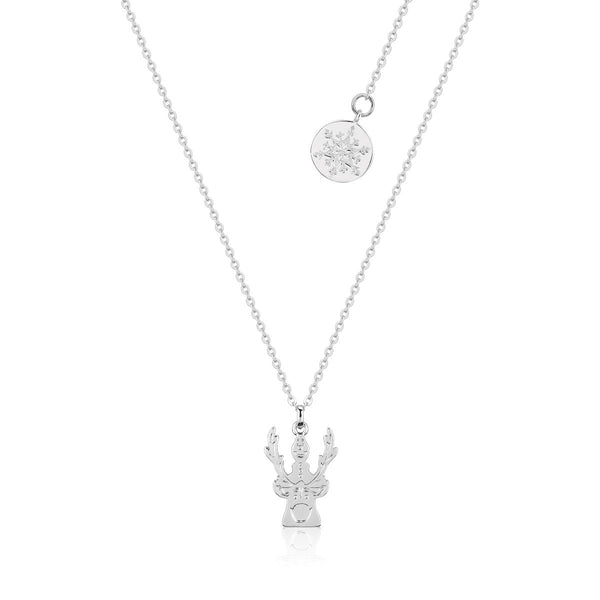 Disney-Frozen-Kids-Olaf-Sven-Necklace-White-Gold-Couture-Kingdom-DFN152