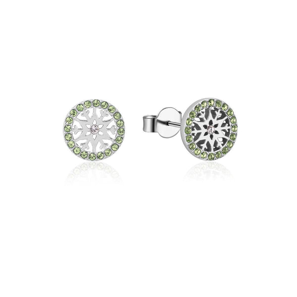 Disney-Frozen-Snowflake-August-Crystal-Birthstone-Stud-Earrings-Sterling-Silver-Couture-Kingdom-SSDFE008