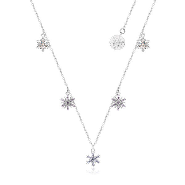 Disney-Frozen-Snowflake-Crystal-Choker-Necklace-Sterling-Silver-Couture-Kingdom-SSDFN166