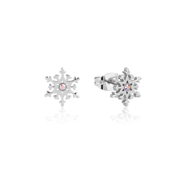 Disney-Frozen-Snowflake-Crystal-Stud-Earrings-Sterling-Silver-Couture-Kingdom-SSDFE166