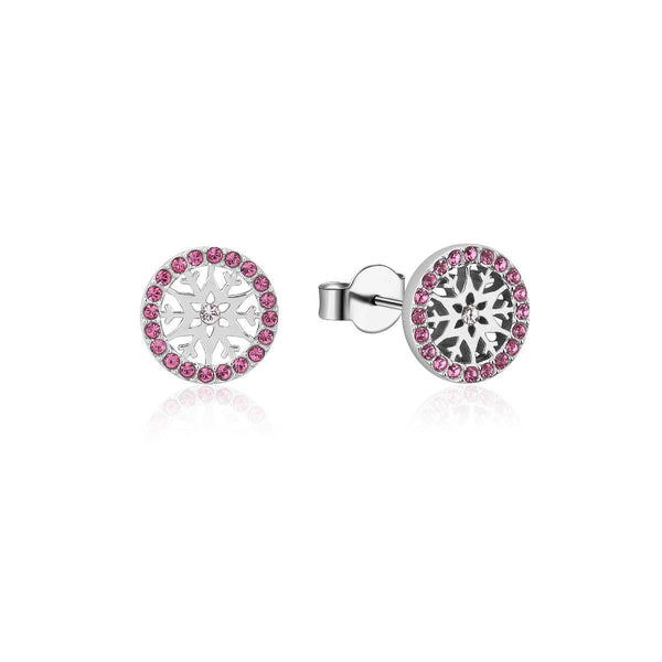 Disney-Frozen-Snowflake-October-Crystal-Birthstone-Stud-Earrings-Sterling-Silver-Couture-Kingdom-SSDFE010