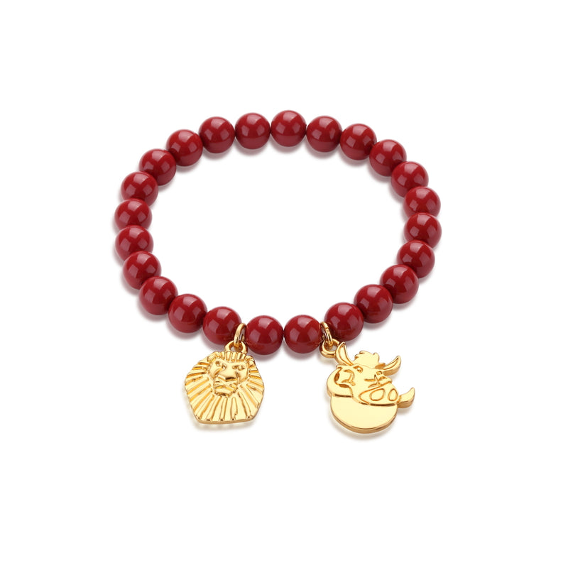 Disney-The-Lion-King-Pumbaa-red-Beaded-Bracelet-DLB101