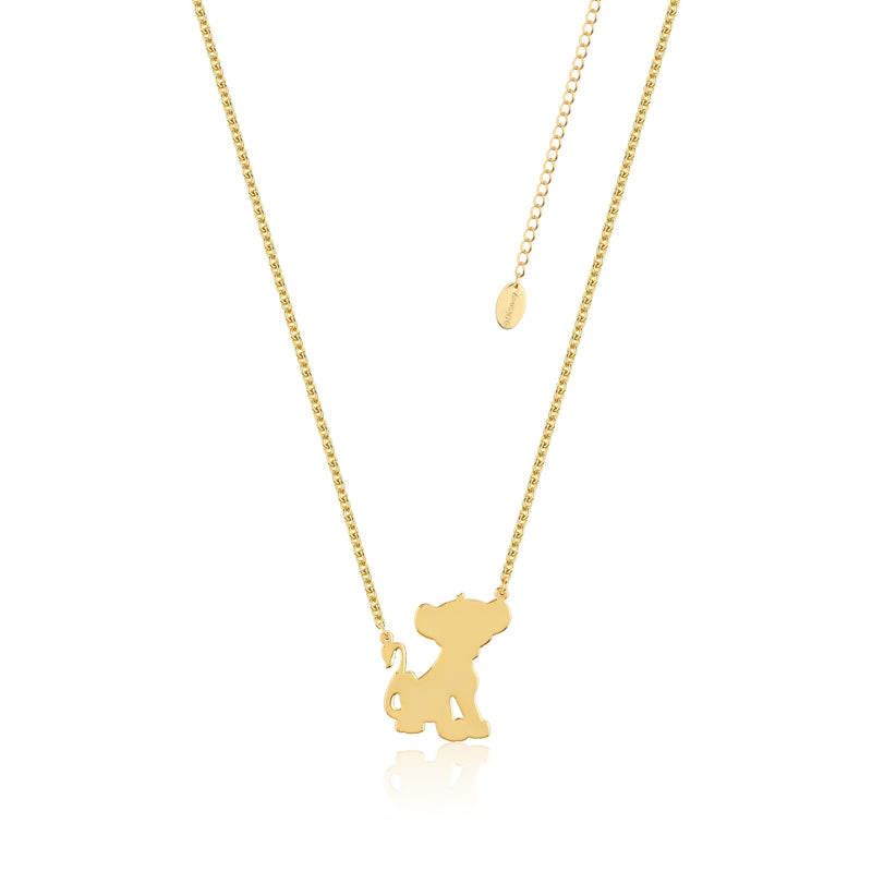 Disney-The-Lion-King-Simba-Yellow-Gold-Necklace-DLN115