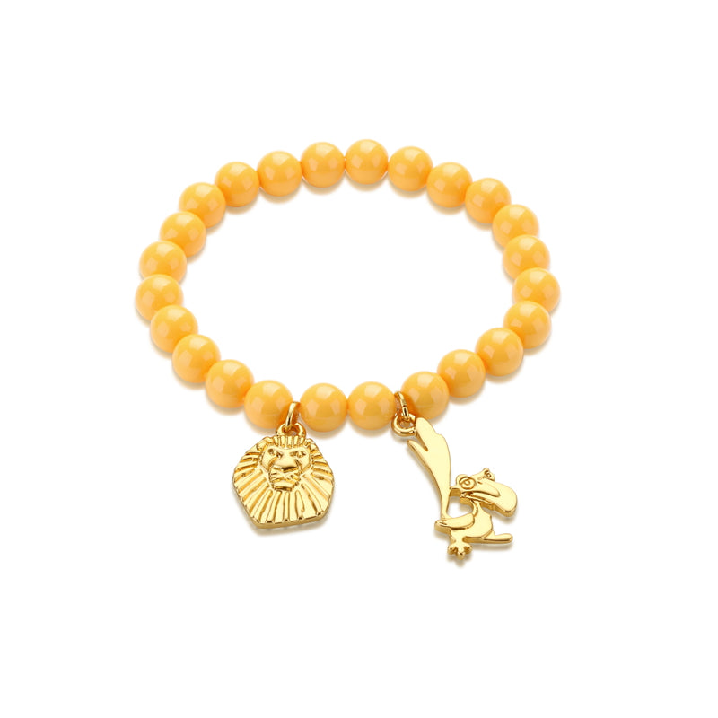 Disney-The-Lion-King-Zazu-yellow-Beaded-Bracelet-DLB102