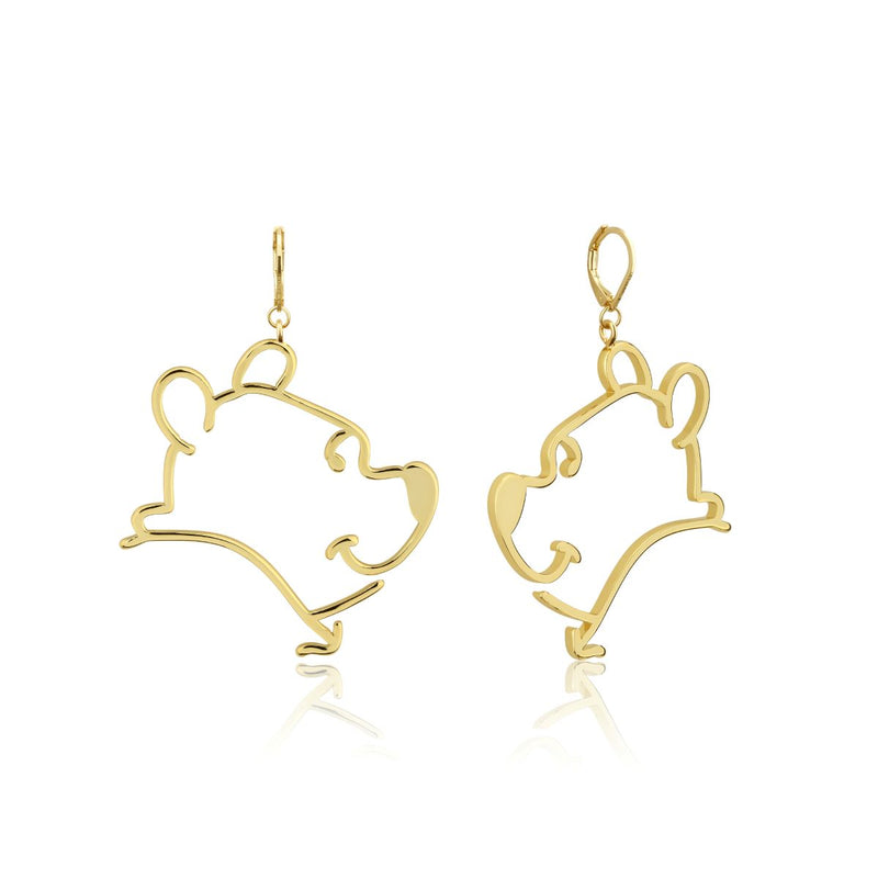 Disney_Couture_Kingdom_Winnie_The_Pooh_Yellow_Gold_Drop_Earrings_DYE1012
