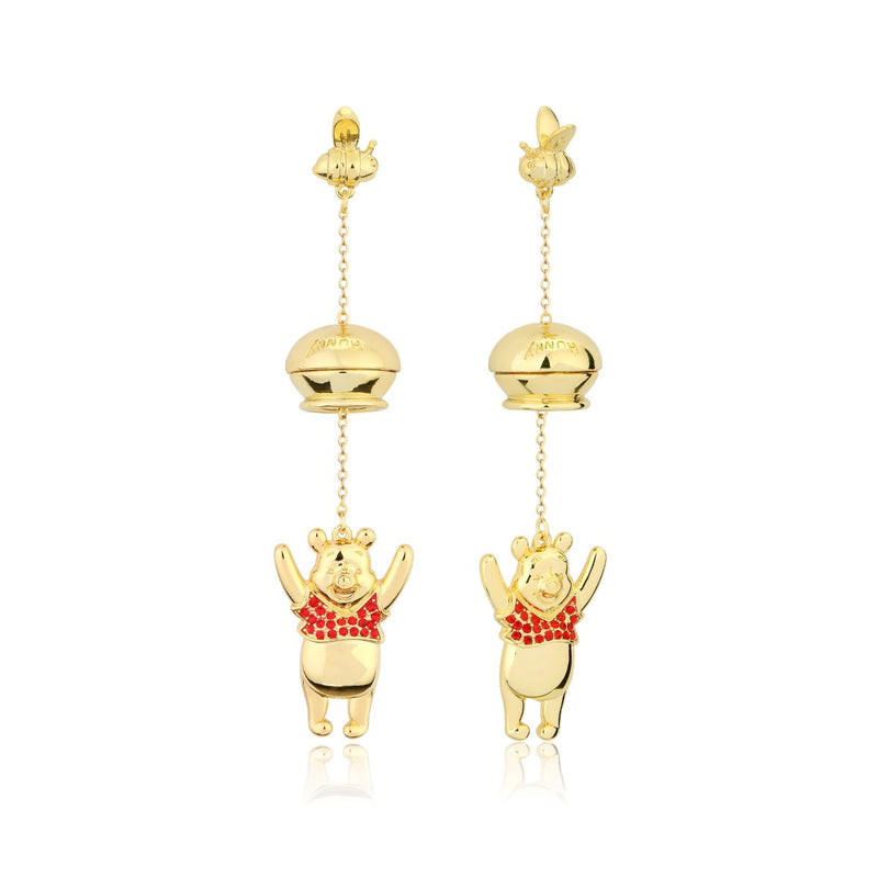 Disney_Couture_Kingdom_Winnie_The_Pooh_Yellow_Gold_Honey_Pot_Drop_Earrings_DYE1018