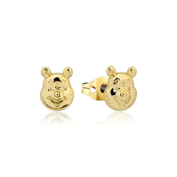 Disney_Couture_Kingdom_Winnie_The_Pooh_Yellow_Gold_Stud_Earrings_DYE1020
