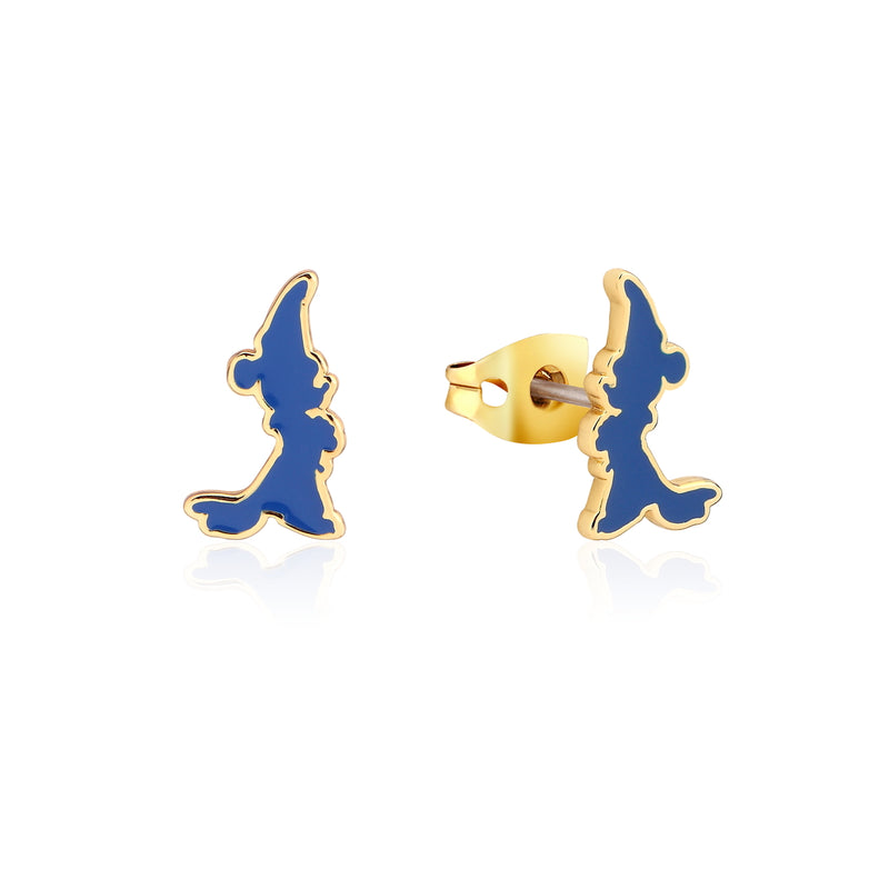 Disney_Fantasia_Mickey_Mouse_Sorcerers_Apprentice_Enamel_Yellow_Gold_Stud_Earrings_Couture_Kingdom_DYE1034