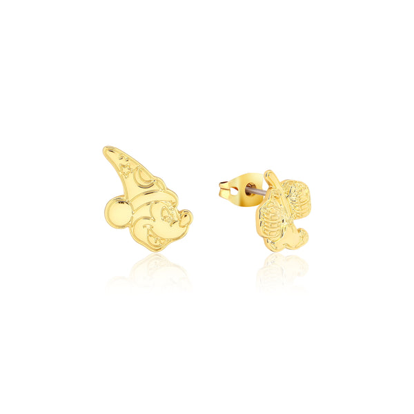 Disney_Fantasia_Mickey_Mouse_Sorcerers_Apprentice_Yellow_Gold_Stud_Earrings_Couture_Kingdom_DYE1038