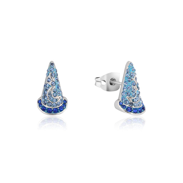 Disney_Fantasia_Sorcerers_Hat_Crystal_White_Gold_Stud_Earrings_Couture_Kingdom_DSE1032
