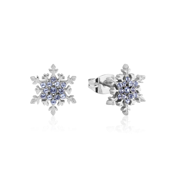 Disney Frozen 2 Elsa Crystal Snowflake Stud Earrings