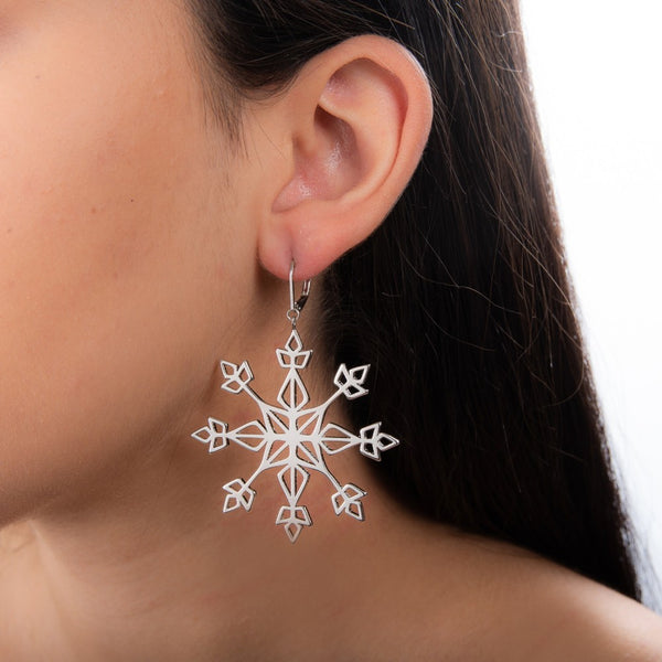 Disney Frozen 2 Elsa Snowflake Earrings