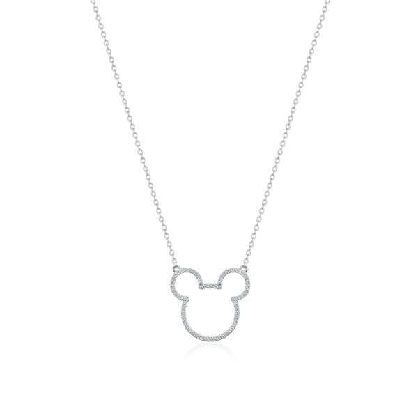 Disney-Mickey-Mouse-Crystal-Outline-Sterling-Silver-Necklace-Couture-Kingdom-SSDN007