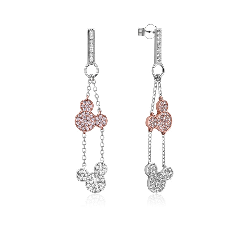 Disney Precious Metal Mickey Mouse Crystal Drop Earrings