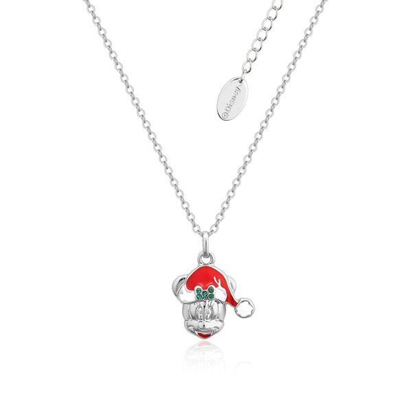 Disney_Minnie_Mouse_Crystal_Christmas_Necklace_White_Gold_Couture_Kingdom_DCN004