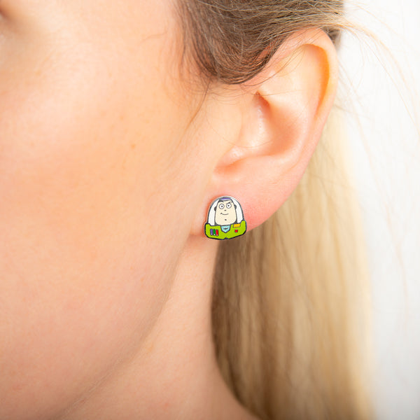 Disney_Pixar_ECC_Toy_Story_Buzz_Lightyear_Stud_Earrings_on_Model_Stainless_Steel_Couture_Kingdom_SPE042