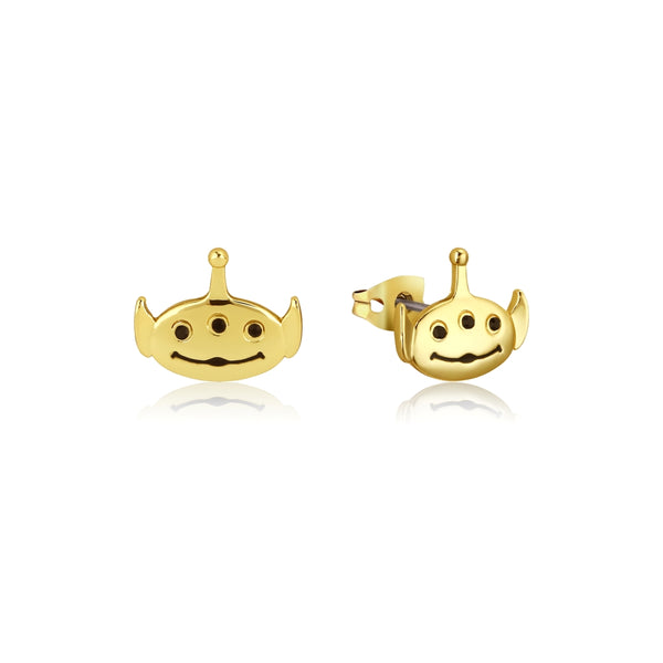 Disney_Pixar_Toy_Story_Yellow_Gold_Alien_Stud_Earrings_Couture_Kingdom_DYE1002