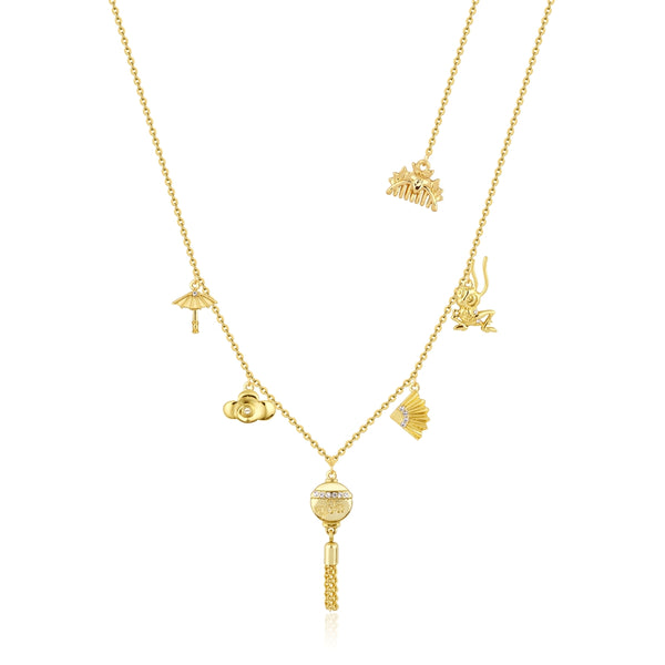 Disney_Princess_Mulan_Charm_Necklace_Close_View_Yellow_Gold_Couture_Kingdom_DYN88