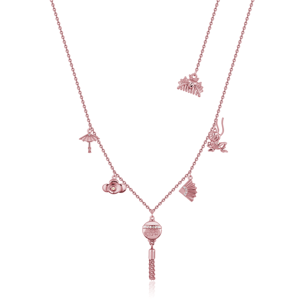 Disney_Princess_Mulan_Charm_Necklace_Rose_Gold_Couture_Kingdom_DRN880