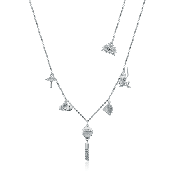 Disney_Princess_Mulan_Charm_Necklace_White_Gold_Couture_Kingdom_DSN880