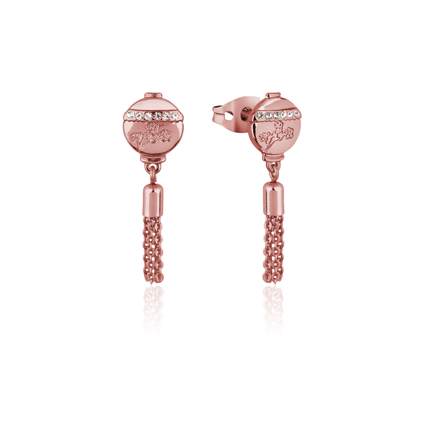 Disney_Princess_Mulan_Crystal_Lantern_Tassel_Stud_Earrings_Rose_Gold_Couture_Kingdom_DRE858