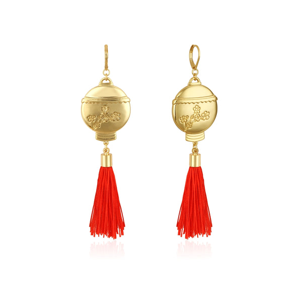 Disney_Princess_Mulan_Lantern_Tassel_Earrings_Yellow_Gold_Couture_Kingdom_DYE88