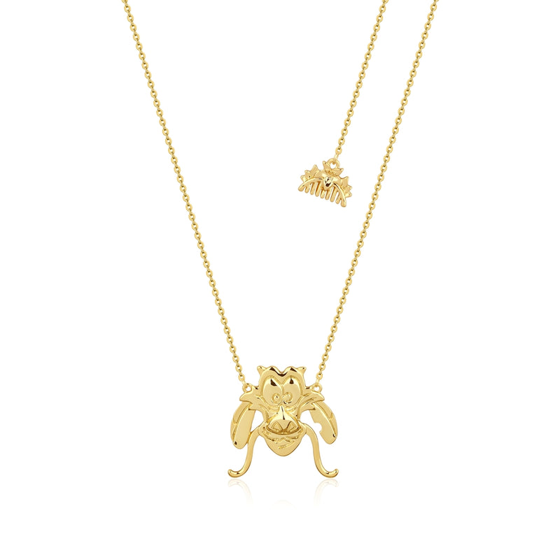 Disney_Princess_Mulan_Mushu_Necklace_Front_View_Yellow_Gold_Couture_Kingdom_DYN888