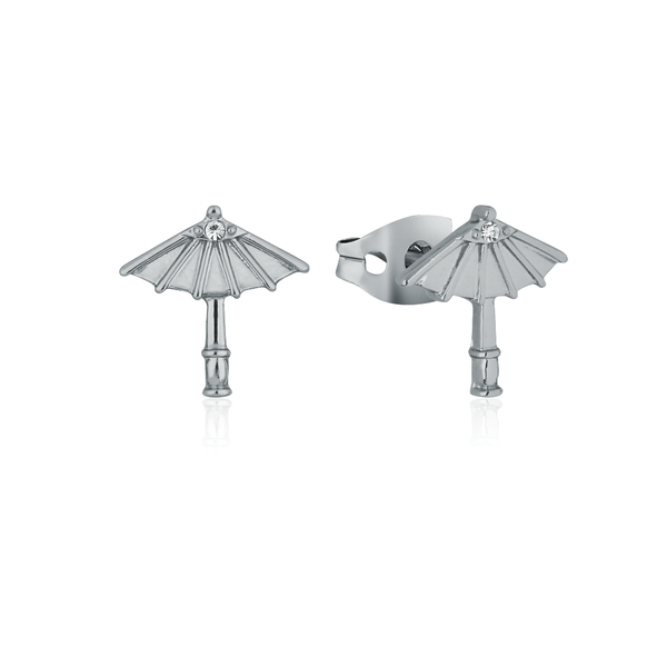 Disney_Princess_Mulan_Umbrella_Stud_Earrings_White_Gold_Couture_Kingdom_DSE852