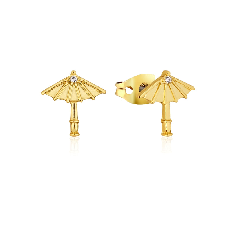 Disney_Princess_Mulan_Umbrella_Stud_Earrings_Yellow_Gold_Couture_Kingdom_DYE852