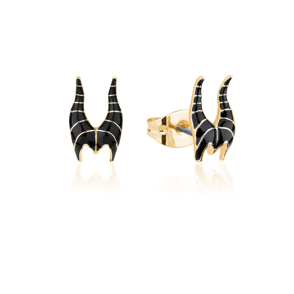 Disney_Sleeping_Beauty_Maleficent_Studs_Yellow_Gold_Couture_Kingdom_DYE600