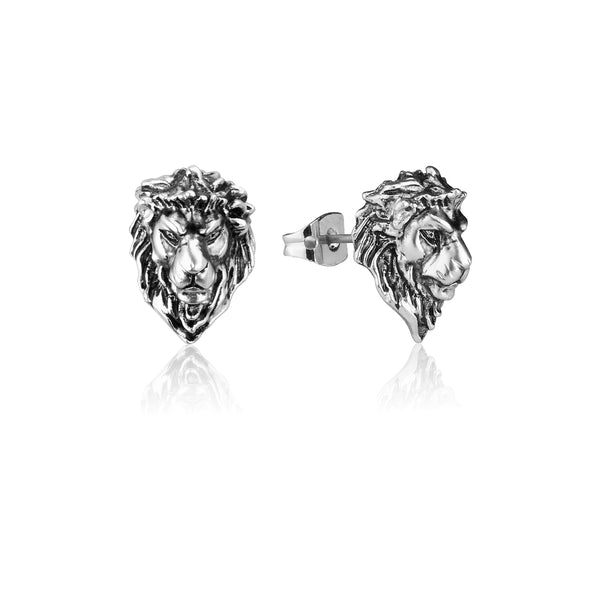 Disney-The-Lion-King-Simba-White-Gold-Stud-Earrings-DLSE215