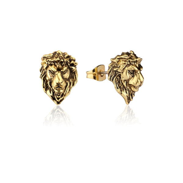 Disney-The-Lion-King-Simba-Yellow-Gold-Stud-Earrings-DLYE215