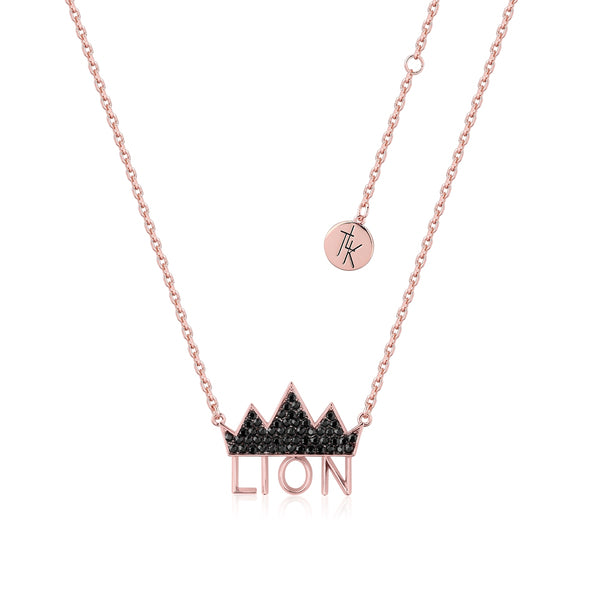 Disney-The-Lion-King-Crown-Necklace-Rose-Gold-with-Swarovski-Crystals-DLRN205