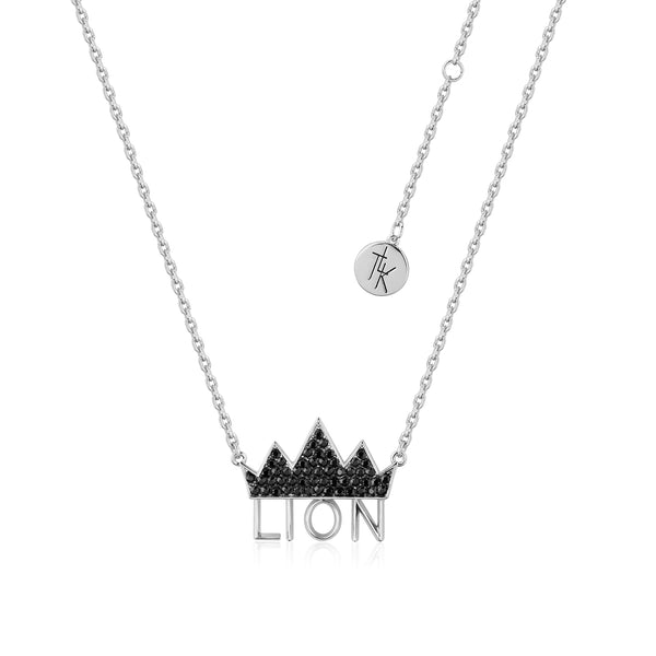 Disney-The-Lion-King-Crown-White-Gold-Necklace-with-Swarovski-Crystals-DLSN205