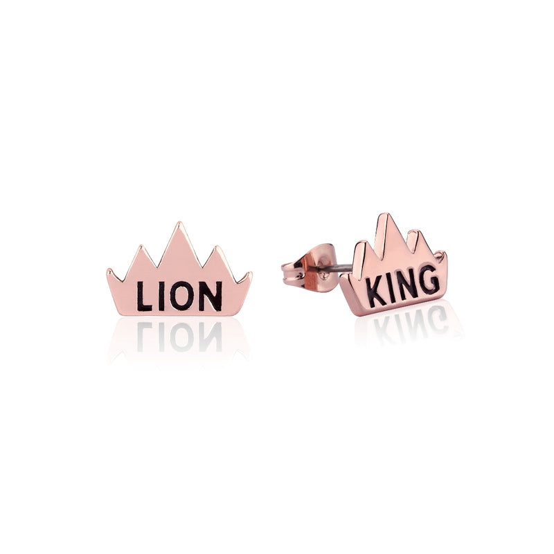 Disney-The-Lion-King-Crown-Stud-Earrings-Rose-Gold-DLRE205
