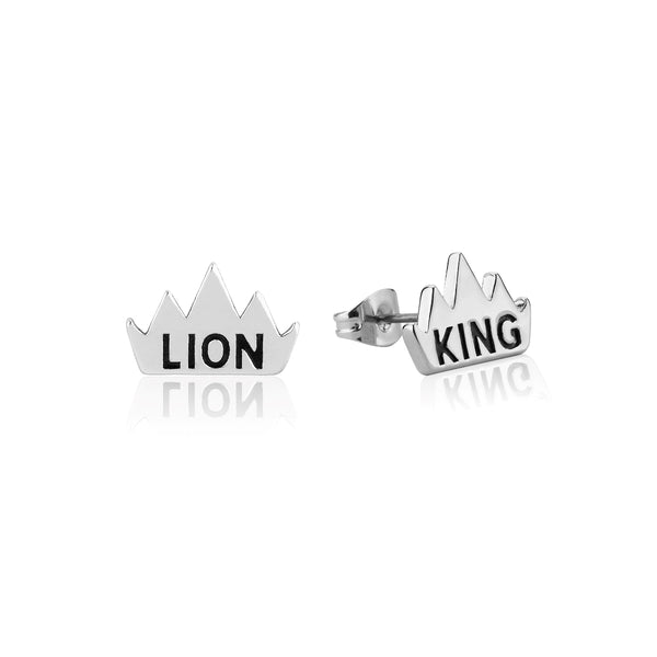 Disney-The-Lion-King-Crown-Stud-Earrings-White-Gold-DLSE205