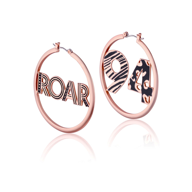 Disney-The-Lion-King-Roar-94-Hoop-Earrings-Rose-Gold-Couture-Kingdom-Jewellery-DLRE220