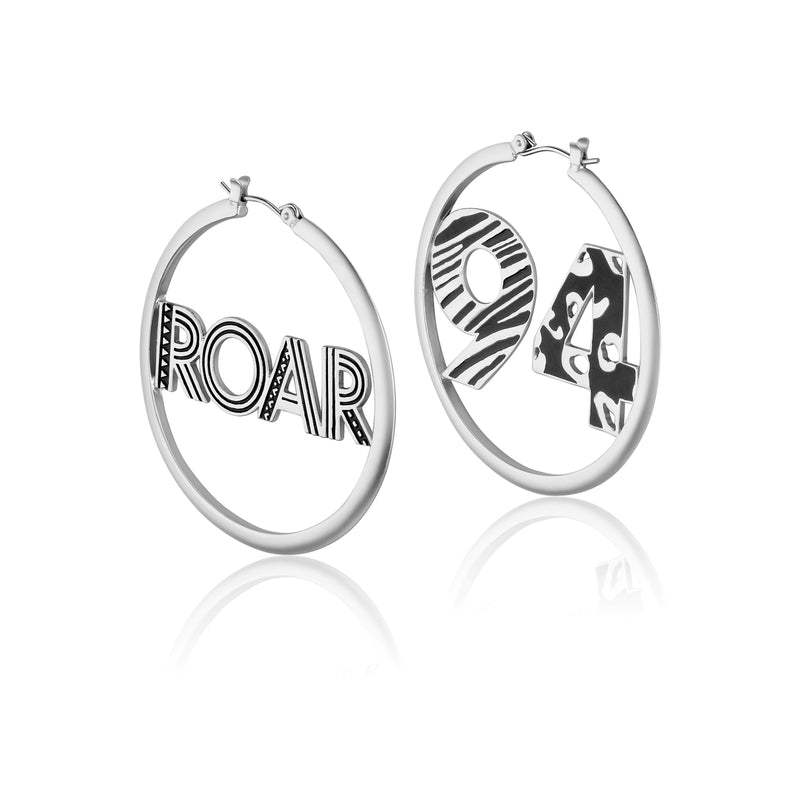 Disney-The-Lion-King-Roar-94-Hoop-Earrings-White-Gold-Couture-Kingdom-Jewellery-DLSE220