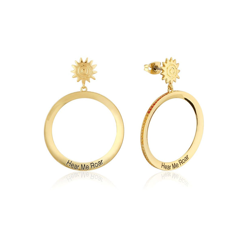 Disney-The-Lion-King-Hear-Me-Roar-Crystal-Hoop-Earrings-Side-Angle-Couture-Kingdom-Yellow-Gold-DLYE230