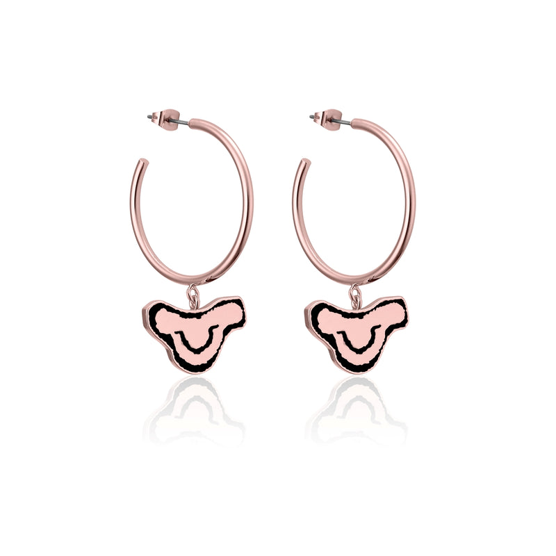 Disney-The-Lion-King-Simba-Hoop-Earrings-Rose-Gold-Couture-Kingdom-DLRE235