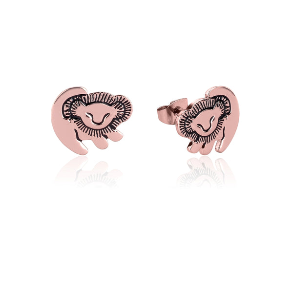 Disney-The-Lion-King-Simba-Rose-Gold-Stud-Earrings-Couture-Kingdom-DLRE210