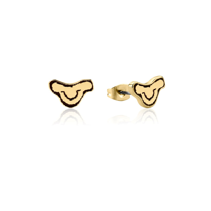 Disney-The-Lion-King-Simba-Head-Stud-Earrings-Yellow-Gold-Couture-Kingdom-DLYE240