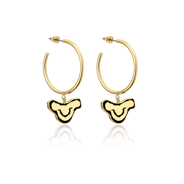 Disney-The-Lion-King-Simba-Hoop-Earrings-Yellow-Gold-Couture-Kingdom-DLYE235