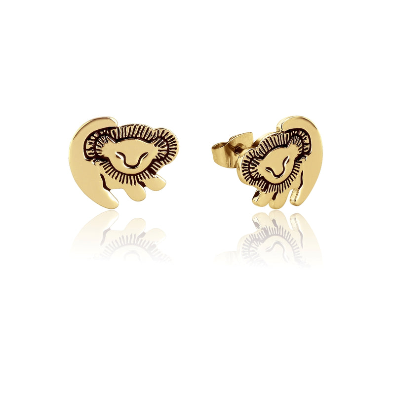 Disney-The-Lion-King-Simba-Yellow-Gold-Stud-Earrings-Couture-Kingdom-DLYE210