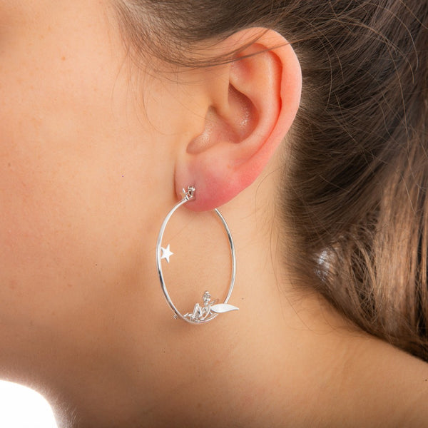 Disney Precious Metal Tinker Bell Hoop Earrings