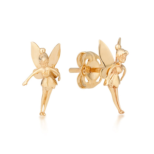 Disney Precious Metal Tinker Bell Stud Earrings - Disney Jewellery