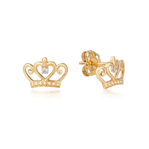 Disney Precious Metal Princess Stud Earrings - Disney Jewellery