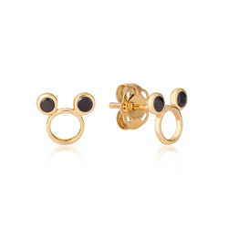 Disney-9-carat-gold-Precious-Metal-Mickey-Mouse-Outline-Stud-Earrings-Jewelry-by-Couture-Kingdom-E215779
