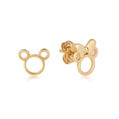 Disney Precious Metal Minnie and Mickey Mouse Stud Earrings - Disney Jewellery