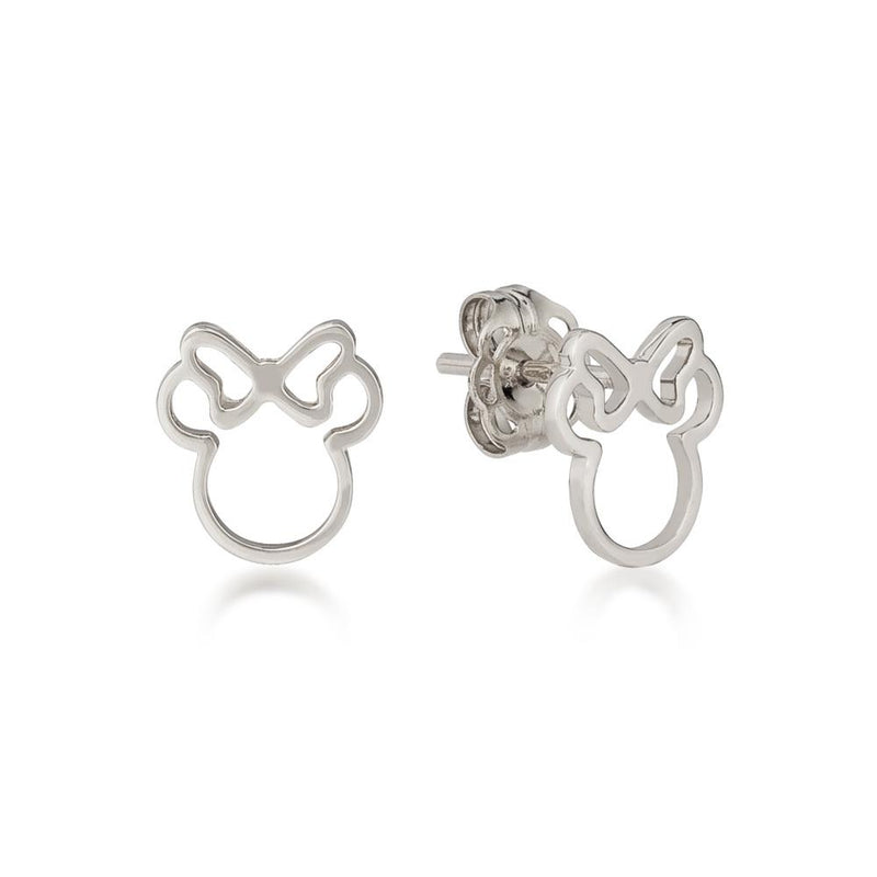 Disney-Sterling-Silver-Minnie-Mouse-Outline-Stud-earrings-by-Couture-Kingdom-Jewelry-E215907S